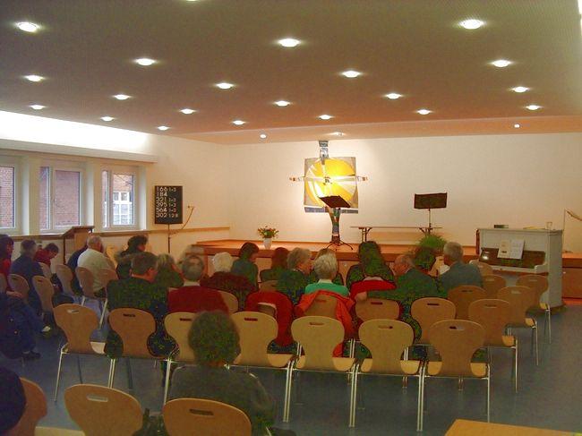 Gottesdienst im Gemeindesaal